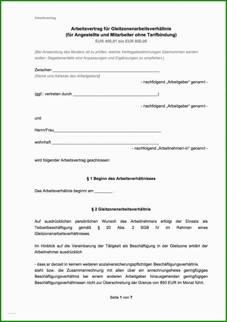 Befristeter Arbeitsvertrag Verlängern Vorlage - Kostenlose ...