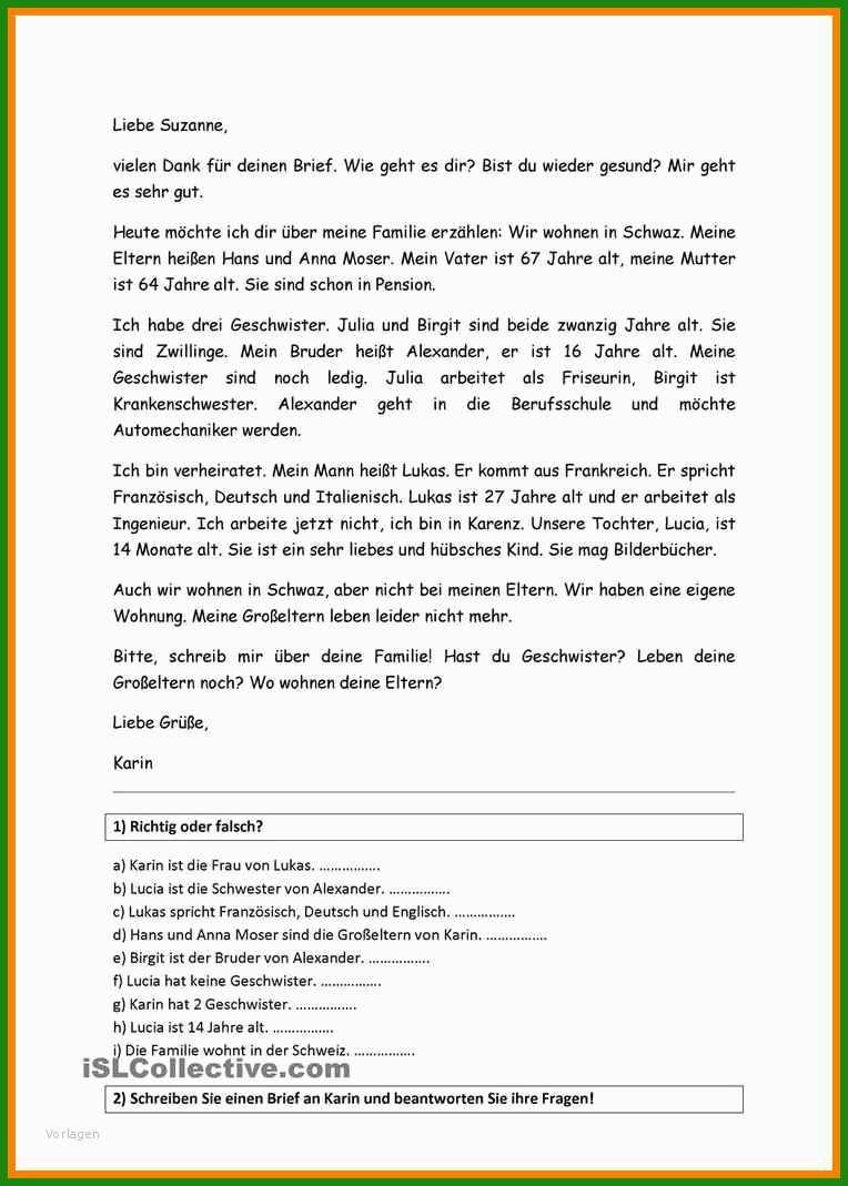 Brief Englisch Muster Freunde - Kostenlose Vorlagen zum