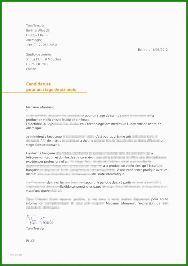 Brief Französisch Vorlage - Kostenlose Vorlagen zum