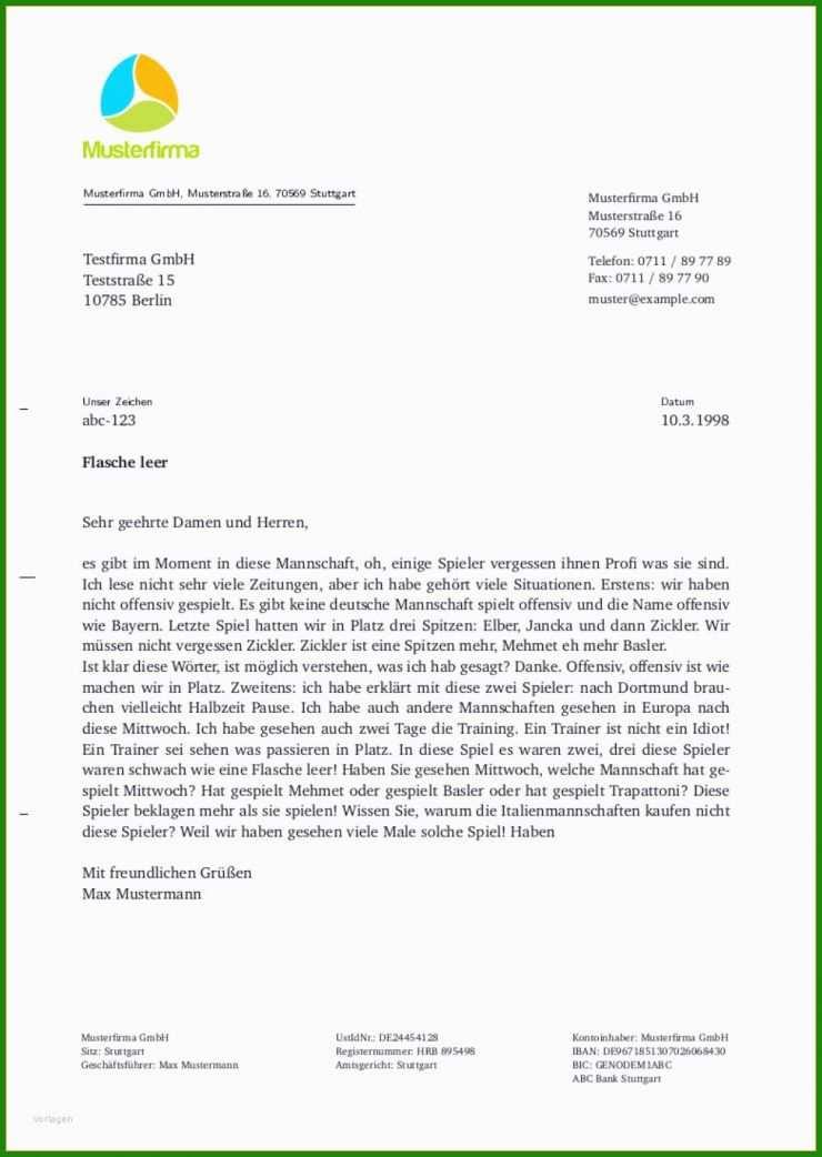 Brief Schreiben Englisch Vorlage - Kostenlose Vorlagen zum