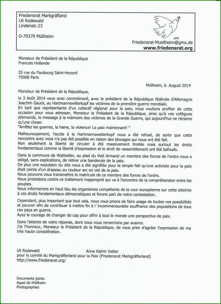 Brief Schreiben Französisch Muster - Kostenlose Vorlagen