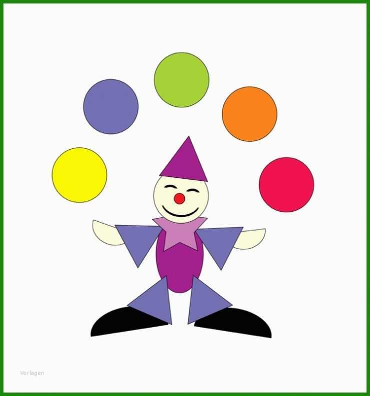 clown basteln vorlagen  kostenlose vorlagen zum download