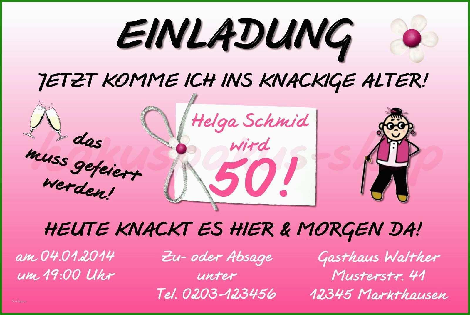 Einladung Geburtstag Lustig Vorlage - Kostenlose Vorlagen