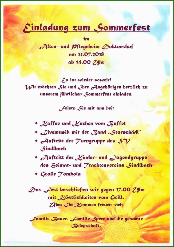 Sommerfest Einladungen