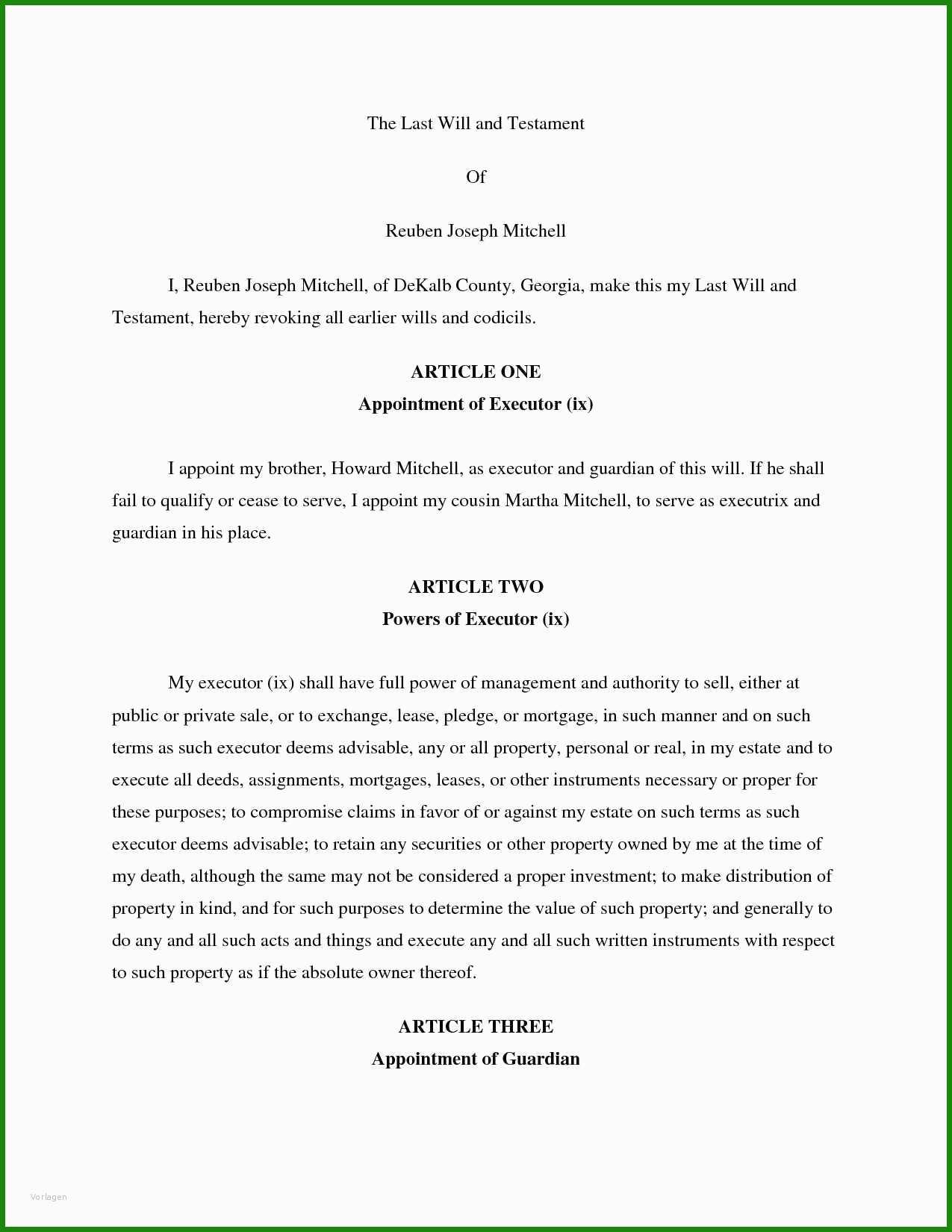 Testament Muster Kostenlos Download - Kostenlose Vorlagen