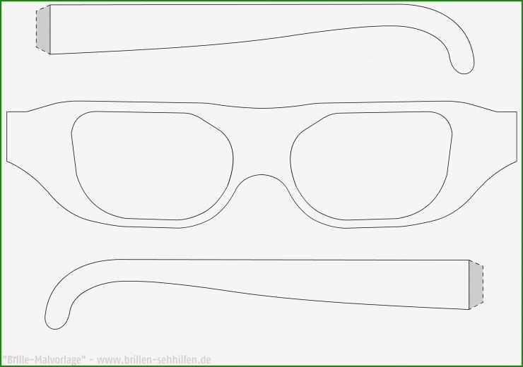 vorlage brille basteln  kostenlose vorlagen zum download