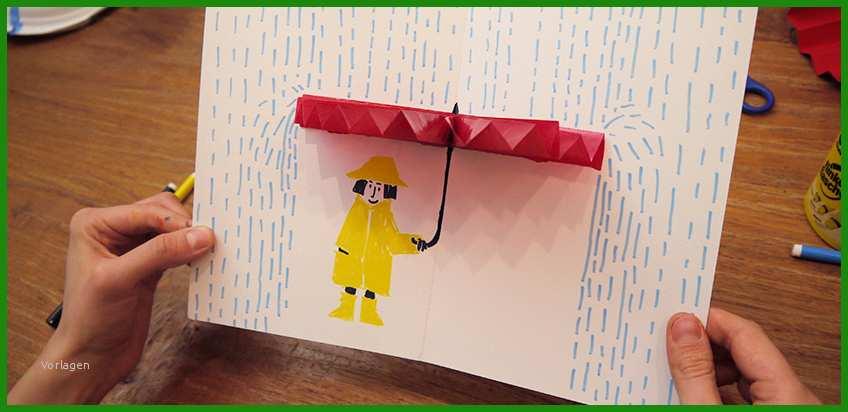 vorlage regenschirm basteln  kostenlose vorlagen zum