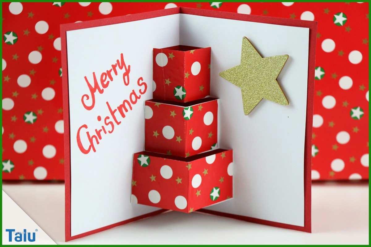 Weihnachtskarte Basteln Vorlage - Kostenlose Vorlagen zum