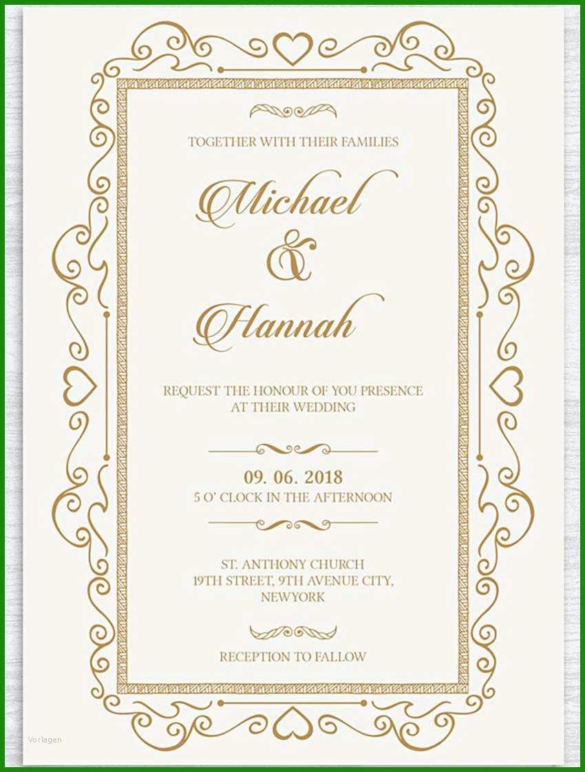 Word Vorlage Einladung Hochzeit - Kostenlose Vorlagen zum